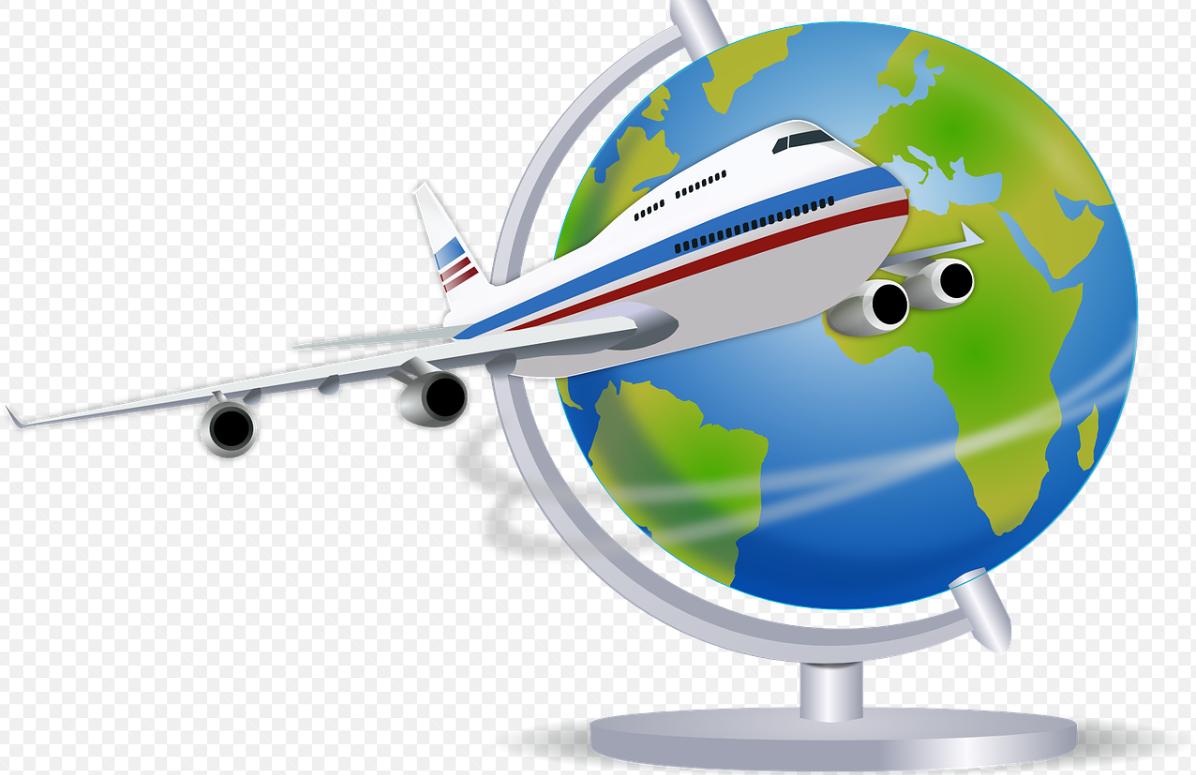 letadlo a glóbus
